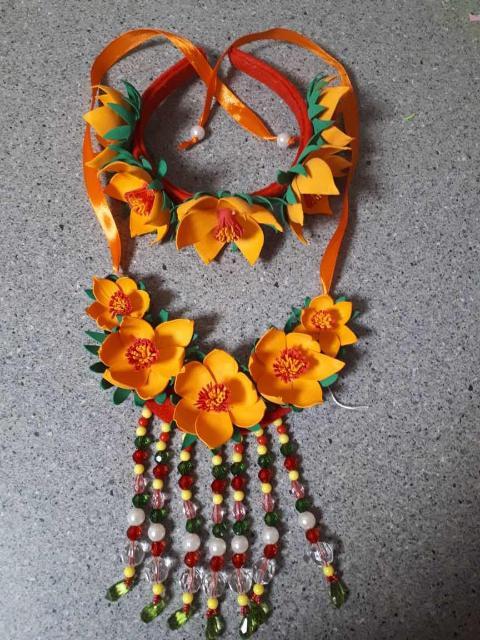 Красивый комплект для девочки, отличный вариант на праздник 1 июня и ысыаха :)