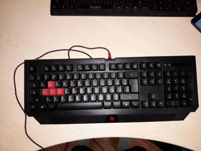 проводная клавиатура интерфейс USB для настольного компьютера, игровая классическая конструкция, мембранная клавиш: 104 размеры (ШxВxГ): 458x37x180 мм вес: 800 г Whatsapp