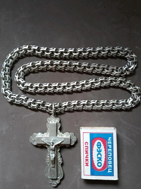 Крест с цепочкой.  Серебро925  Вес 225г