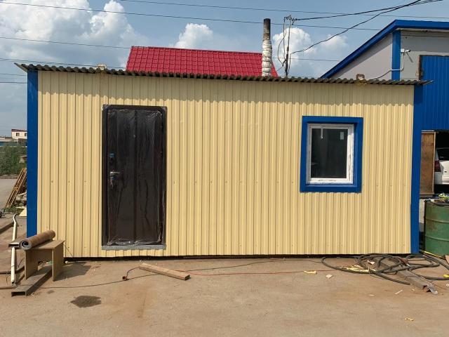 Продаю жилой переносной утепленный домик с размерами 6*2,7м. Основа швеллер 15,рама 7,5, утепление базалит+полистирол (10см),изоспан А,В с 2-х сторон,обшитый профлистом,внутри стеновые панели, пол-комм.линолеум,потолок-ОСБ,окно-4-хкамерный стеклопакет,поворотно-откидной, дверь утепленная металлическая. Всё сделано из нового материала. Можете посмотреть по адресу: Покровский тракт 4км д.1/2