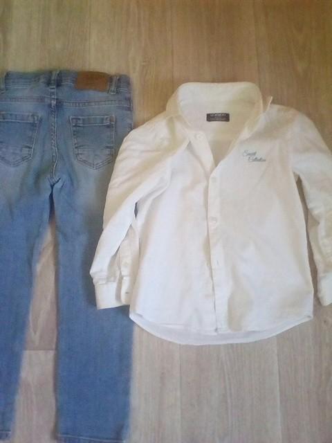 Фирма WAKIKI.   Джинсы и нарядная рубашка, 3,4 , 5 лет