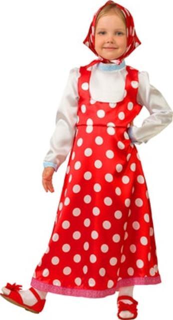 Продаю новый костюм Машеньки, в комплекте платье, косынка. Размер 28, рост 110 см. Возможна доставка.