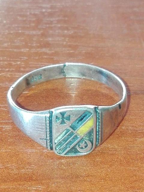 Германо османское кольцо Первая Мировая война серебро 800 пробы
