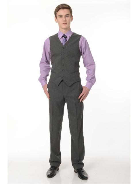 Жилет и брюки школьные цвет серый разм 46 рост 182-188 новые с этикеткой Торг