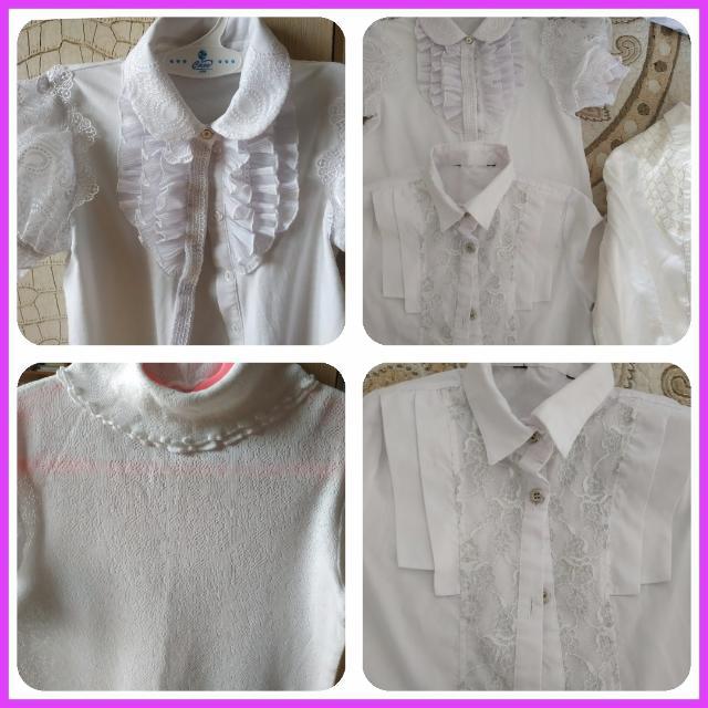Блузки на девочку 128-134.Цена за все четыре.