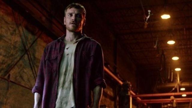 """Стильная мужская рубашка LCW Casual, extra slim fit. Бордово-синий цвет в клетку, как у Magneto из """"Люди Икс""""."""
