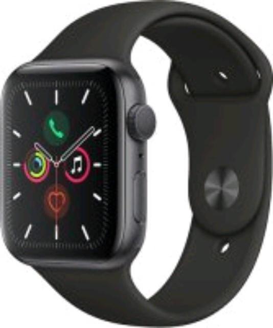 Apple Watch Series 5, space gray, 44 mm. Спортивный ремешок, ростест. Абсолютно новые! В запечатанной коробке.
