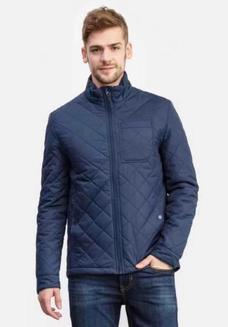 Стеганая куртка Ostin темно-синего цвета. Размер L. В отличном состоянии.