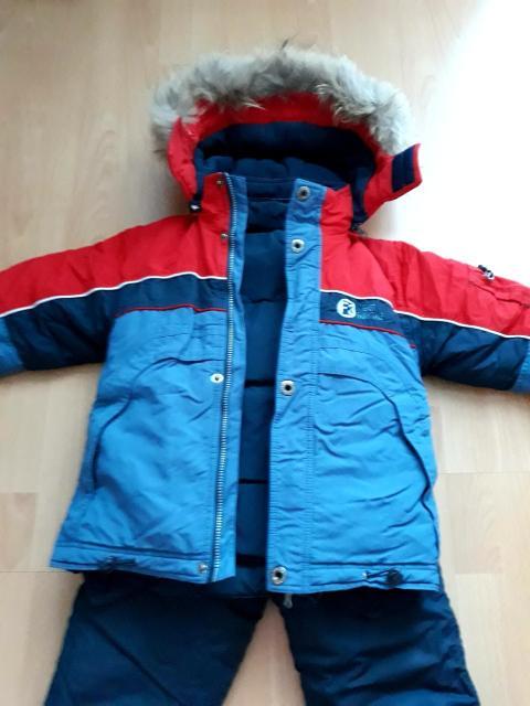 Комплект зимний на мальчика, рост 116. Полукомбинезон+ куртка 2в1(пуховик 80%пух, 20%перо). В отличном состоянии. Ватсап.