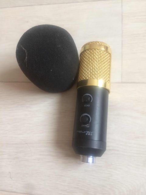 микрофон, юзб карта, настольная стойка провода.