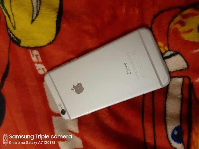 Apple iPhone 6 64gb silver,в хорошем техническом состоянии,всё полностью работает,только беззвучного режима качелки,износ аккумулятора 96% держит нормально,в комплекте идёт только зарядное устройство оригинальная и чехол  Обмен на ваши варианты! Не большой торг!