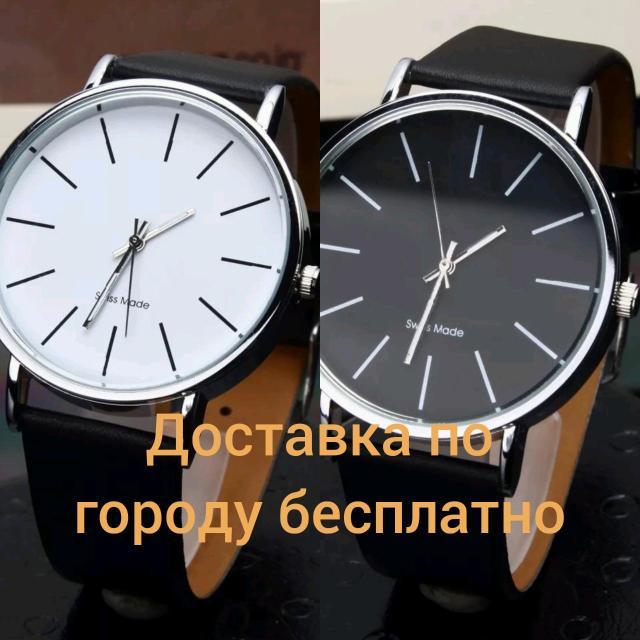Продаю белые и черные часы. Состояния хорошие, новые.  ✔Тип застежки - пряжка ✔Материал корпуса - ✔Нержавеющая сталь  ✔Длина ремешка - 24см ✔Ширина браслета - 20мм ✔Диаметр циферблата - 40мм ✔Материал - кожа