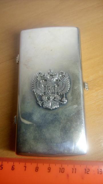 Портсигар серебряный 925 пробы, вес более 100 грамм, неиспользованный.