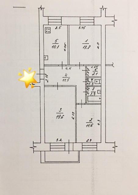 Продам 3 комнатную квартиру, дом индивидуальной планировки 90 г.п., 4/5 этаж, 72,7 кв.м., с/п, окна на две стороны, просторная и светлая, хороший ремонт, гардеробная, видеодомофон. Все в шаговой доступности,  торговые центры, садики, школа.