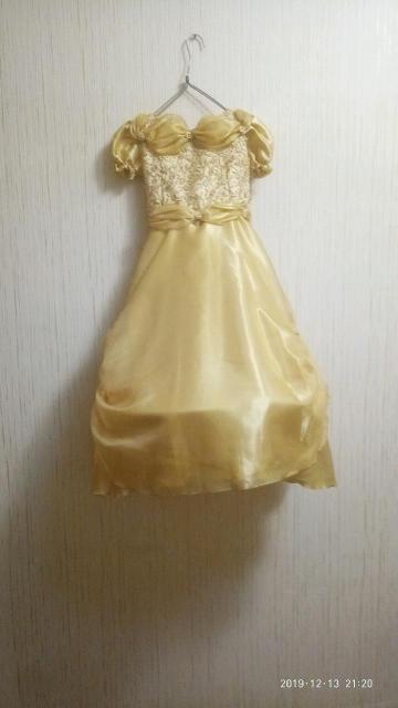 Длина платья примерно 120 см