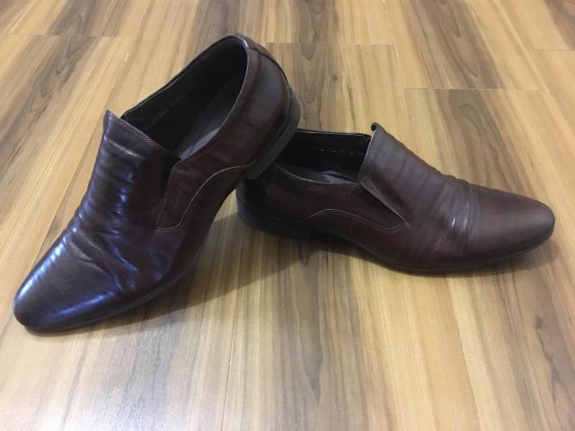Мужские кожаные туфли, размер 40