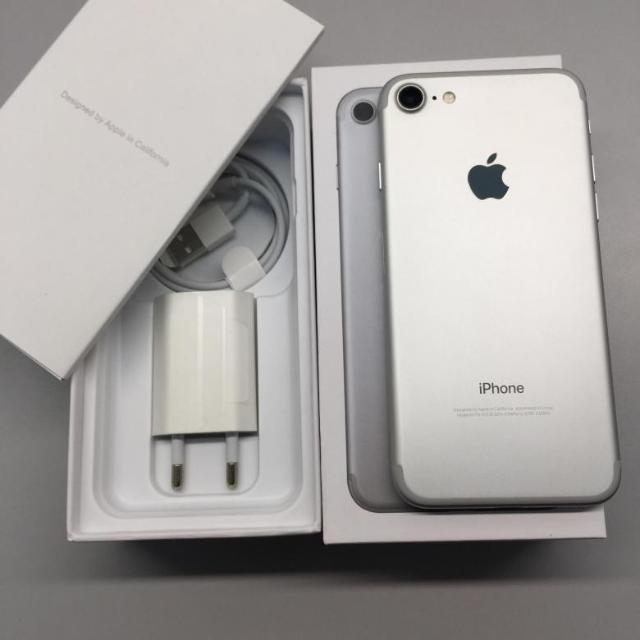 Продаю Iphone 7 Silver 128gb, полный комплект - 18000р