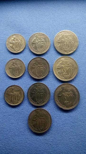 Все эти 10 монет с молотобойцами продаются за 1000 рублей.