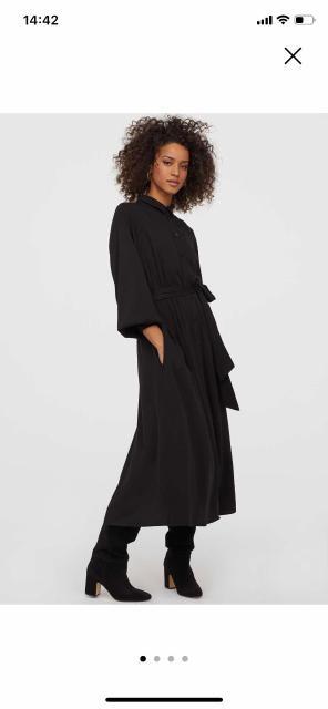 Продаю новое платье-рубашку с поясом длинна миди 44р
