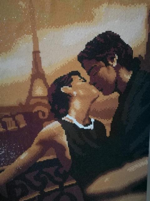 Продам картину Французский поцелуй /алмазная мозаика/