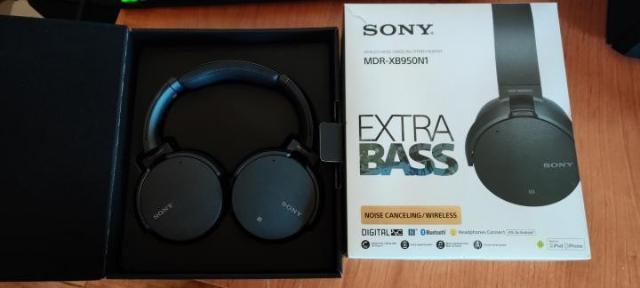 Продаю новые беспроводные Bluetooth наушники с поддержкой aptX Sony MDR-XB950N1/BM и с функцией активного шумоподавления
