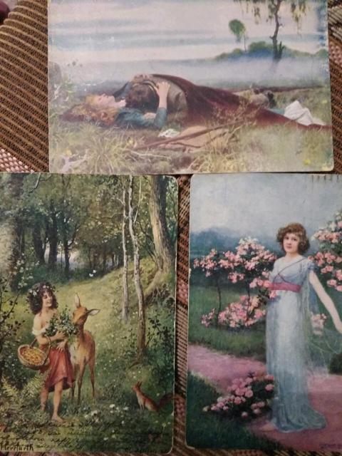 Антикварные открытки конца 19 начала 20 в.в.Без торга