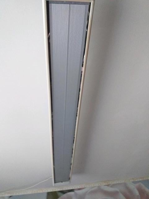 Инфракрасный обогреватель потолочный,экономичный,нагревает до определенной температуры и отлючается.Мистер Хит 1,4Квт.Размер длина-150см,ширина 16см.,с термолегулятором в комплекте.