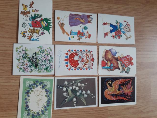 Продаю чистые мини открытки конца 80х начало 90х годов.На фото не все открытки.