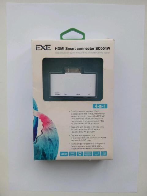 HDMI Smart connector SC004W  SC005W  SC006W Комплектация: Переходник AV кабель Mini USB кабель Переходник для IPad2/IPad/IPhone4/IPod touch
