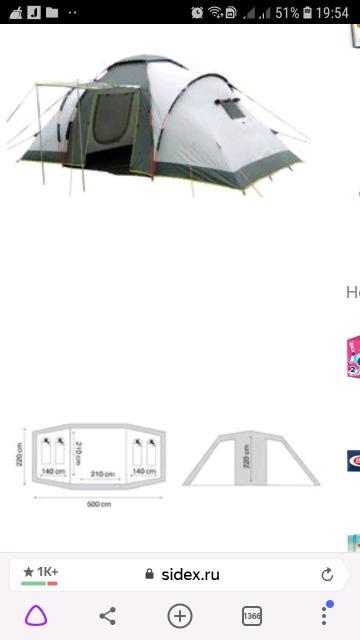 Двух-комнатная,с большим тамбуром,в спальных комнатах двойные стенки. Использовалась 2 раза. В идеальном состоянии.