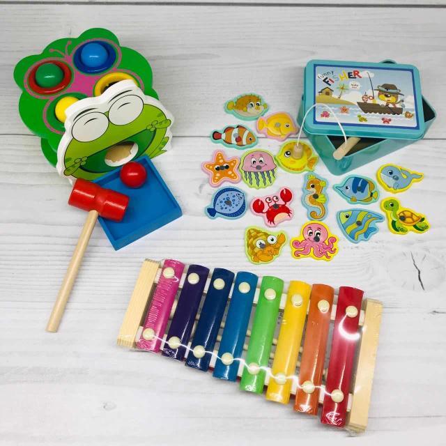Набор деревянных игрушек, новый. Возможна доставка 😊👌🏽 Компактный размер специально для развития наших малышей 🌟