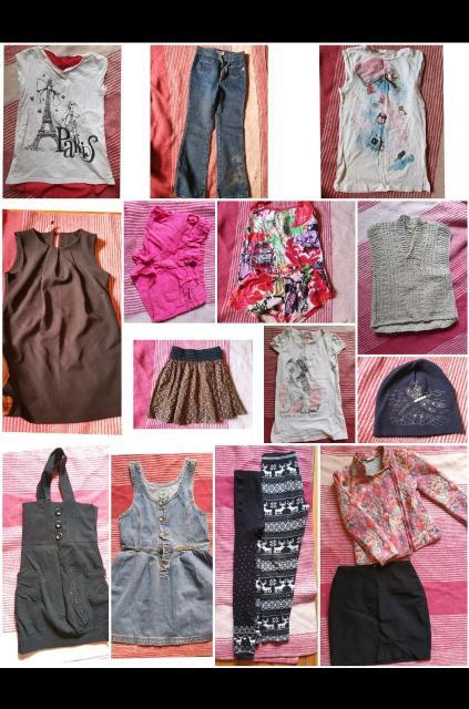 Продам пакет вещей на худенькую девочку рост примерно 128-130. 7-8лет