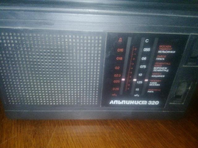 Радиоприемник СССР, от сети, батарейки
