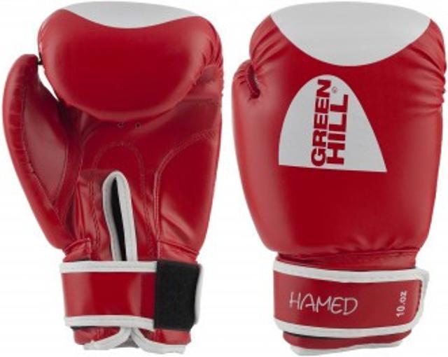 Продаю Перчатки боксерские Green Hill Hamed Прочные боксерские перчатки со специальным уплотнителем предназначены для тренировок. Смягчат удар и защитят Ваши руки от повреждений и травм, характерных для контактного вида единоборств. Идеально подойдут для работы в спарринге.