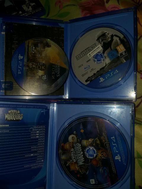 World of warriors Assasins creed истоки Star wars battlefront Состояние 3ех дисков идельное Причина не играю