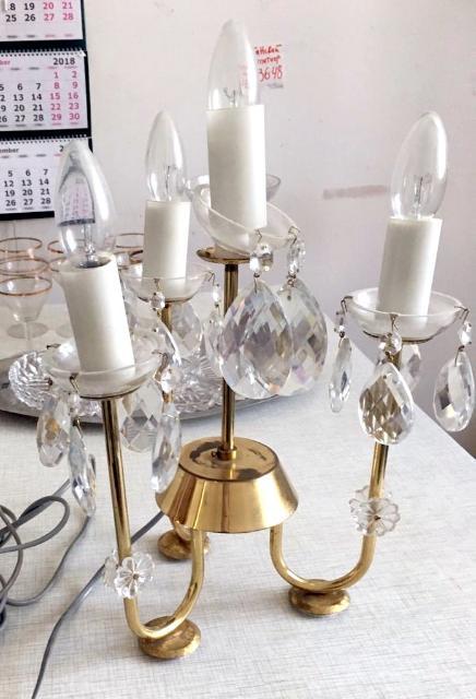 Настольная лампа свеча светильник на 4 лампы свечи цоколь лампы E14 металлическая арматура под золото