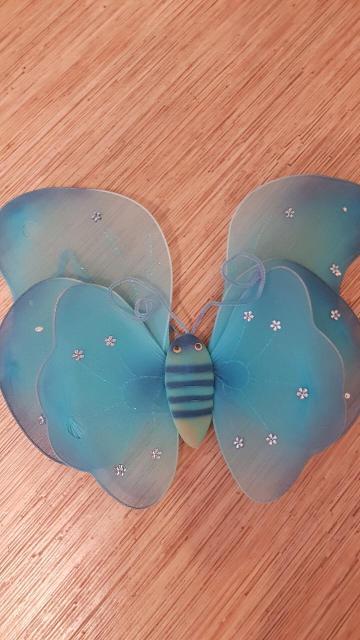 1.крылья голубые 340р. 2.крылья .ободок. палочка. Пчелка цена 420р