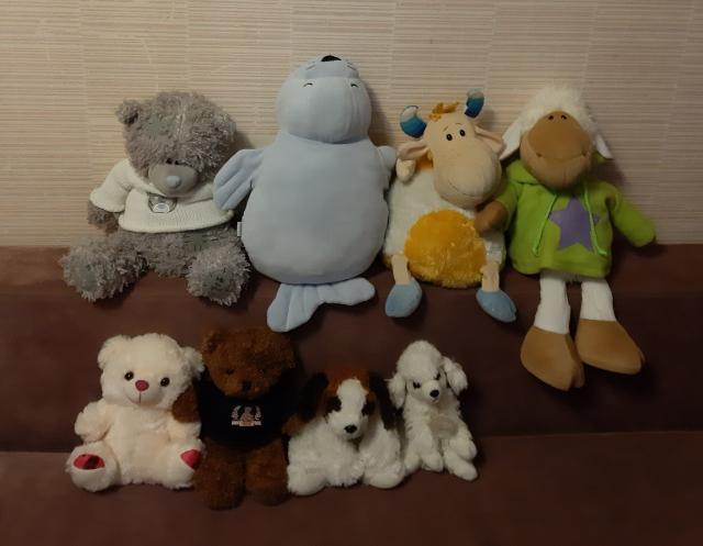 Продаю мягкие игрушки 100, 200, 300, 500 рублей.