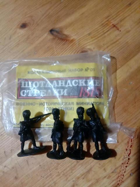 Коллекционный набор, шотландские стрелки, пластик.