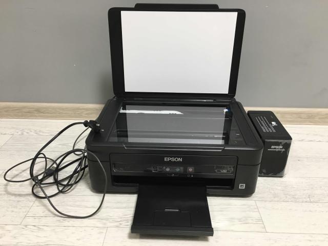Срочно продаю принтер мфу Epson L222 с сублимационными чернилами, пробег 145 стр