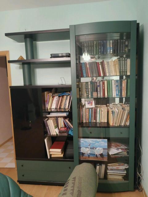Оригинальный книжный шкаф итальянского производства в отличном состоянии