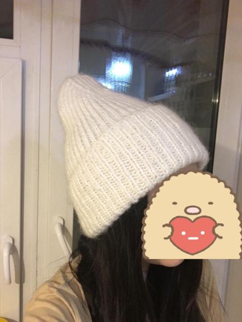 Новая вязаная шапка из мохера. Вязали сами.