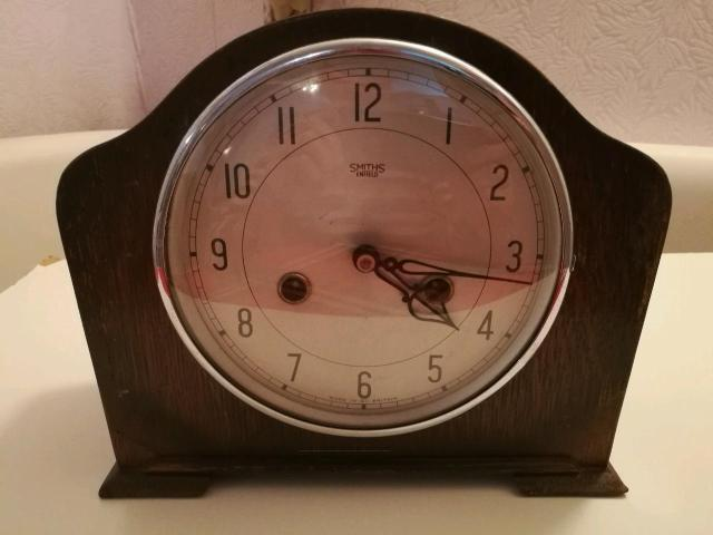 Часы настольные с боем Англия SMITHS Enfield стекло не родное