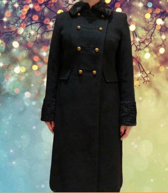 Пальто утеплённое, кашемир с отделкой под каракуль р.44-46 почти не носила большое стало  😌