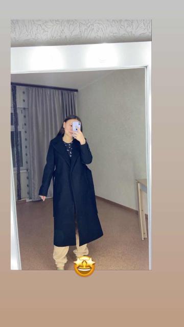 Продаю драповое пальто в чёрном цвете 😍 размер 42