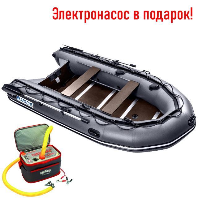 Лодка ПВХ Apache 3500 СК, новая  https://globaldrive-shop.ru/  Моторная лодка ПВХ Апачи (Apache) 3500СК отличается отличной вместительностью и грузоподъемностью. Отличительной особенностью является наличие жесткого настила на полу, благодаря чему удается обеспечить высокую степень безопасности и отличные антискользящие свойства пола. Максимальная мощность лодочного мотора составляет 15 лошадиных сил, а грузоподъемность изделия составляет 650 кг. Это достаточно хороший показатель, учитывая тот факт, что масса лодки составляет 62 кг.  🚀 Новая! При покупке электронасос в подарок! 🚀  ➡ Технические характеристики: Размер лодки: 350*170 см Размер кокпита: 236*71 см Пассажировместимость: 4 чел Грузоподъёмность: 650 кг Макс. мощность мотора: 9.9 л.с Тип днища: слань-киль 12 мм Высота транца: 381 мм (S) Плотность ПВХ: 1000 г/м2 Вес лодки: 61 кг  🚛 Доставка по городу и до терминала ТК! Доставка в улусы. 🔧 Собственный сервисный центр! Проверка всей техники перед отправкой клиенту. 🔁 TRADE-IN: обмен вашей старой техники на новую! 💪 Гарантия на все товары! 💲 Кредит / Рассрочка без переплат, 0-0-24 💳 Оплата любым удобным способом (наличными, картой, по счёту). ✈ Можем привезти товар под заказ!  📲 Звоните прямо сейчас по телефону в объявлении! 📲 Объявленияҕа баар нүөмэринэн эрийэ охсун!  🚢 Мы предлагаем на выбоp многие лодки известных брендов, такие как: Солар (Solar), Фрегат, Флагман, Ривьера, Аква, Хантер, Абакан, Гладиатор длиной 330 | 360 | 380 | 400 | 430 и так далее.  ⏰ Режим работы: ПН-ПТ: 10:00-19:00 СБ-ВС: 10:00-16:00  г. Якутск, ул. Чайковского, 77. Представительство федеральной сети магазинов водно-моторной техники GlobalDrive.  Всегда рады видеть Вас в нашем магазине.