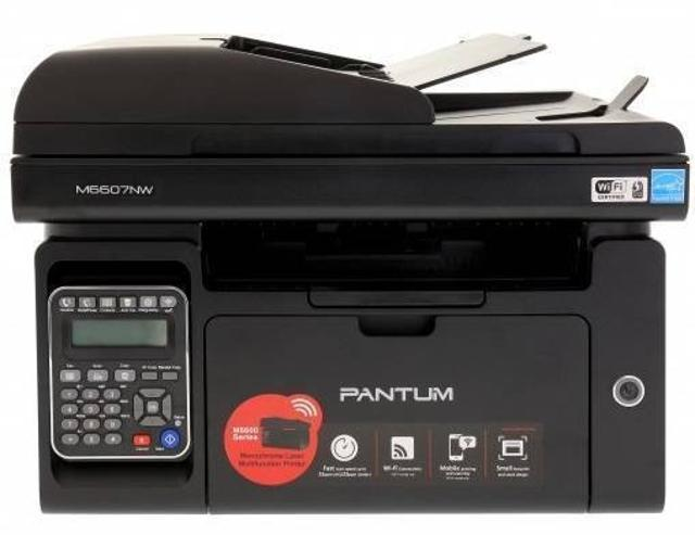 Коротко о товаре *функционал: принтер, сканер, копир, факс *назначение: для небольшого офиса *печать: черно-белая лазерная *скорость: 22 стр/мин (ч/б A4) *макс. формат печати: A4 (210 × 297 мм) *макс. размер отпечатка: 216 × 297 мм *интерфейсы: Wi-Fi, Ethernet (RJ-45), USB