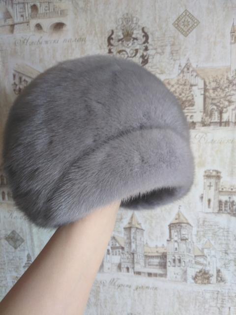 Хорошая женская шапка на зиму :) Из норки.  Размер 55