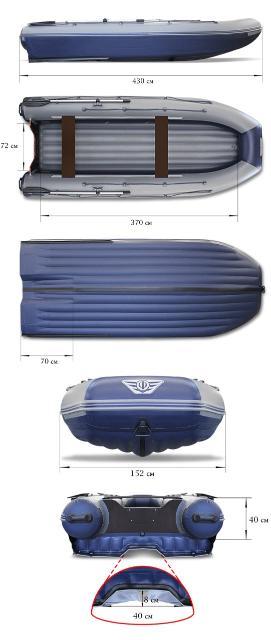 Совершенно новая, 2020 г.в. тоннельная лодка ФЛАГМАН DK 430 igla Jet, недорого, в комплекте дополнительно, носовой тент, и багажные корзины под RV box700.