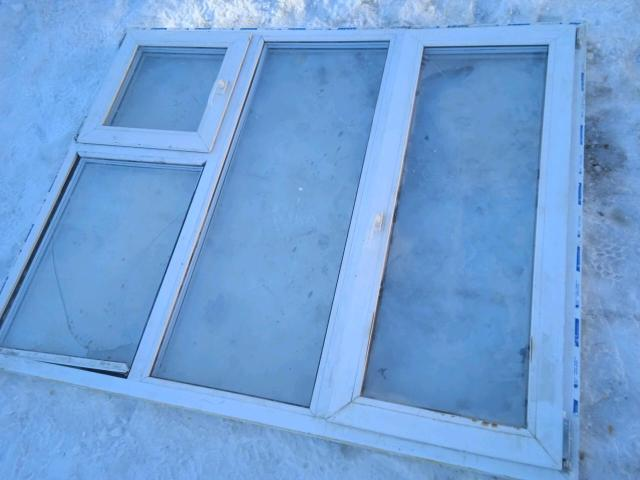 Окна демонтированные, б/у. Размеры 176.5х142.5 высота, 145.5х142.5 высота 2 шт, 89.5х142.5 высота, 176.5х80. 2 стеклопакета разбитые нужна замена.